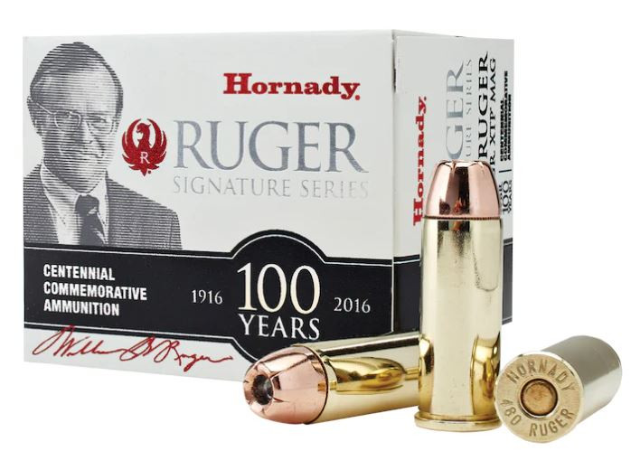 Hornady William B. Ruger Commemorative Ammunition 480 Ruger 325 Grain XTP Mag, Box of 20