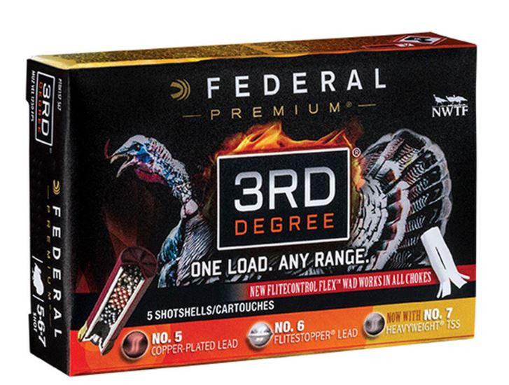 "Federal 3rd Degree 12 Gauge  3-1/2"" #5/6/7 Mixed Pellet Three Stage Payload, 5 Round Box"