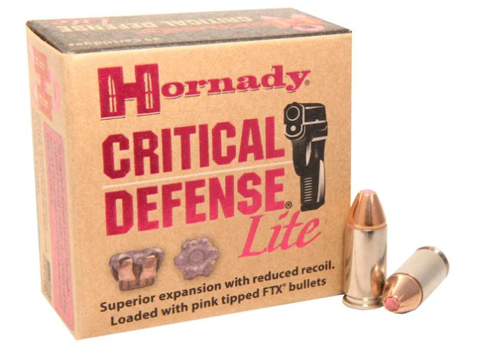 Hornady Critical Defense 9mm Luger Ammunition FTX 100 Grains, 25 Round Box