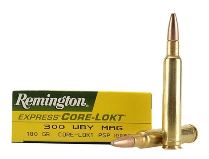 Remington Core-Lokt 300 Weatherby Magnum, 180 GR PSP, Box of 20