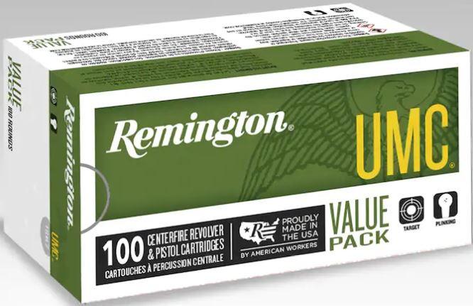 Remington UMC 380 ACP, 88 GR JHP, Box of 100