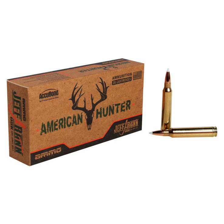 Ammo Inc American Hunter/Jeff Rand 308 Win, 150 GR Accubond, Box of 20