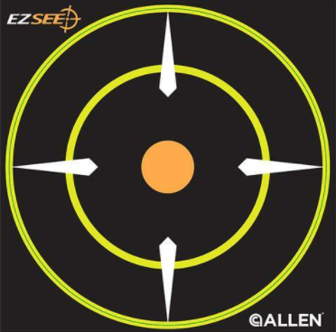 Allen Cases EZ See Adhesive Round Bullseye Targt 12 Pack