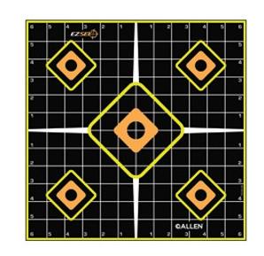 "Allen EZ Aim Splash Self-Adhesive Paper 12"" x 12"" Grid Black 5 Pack"