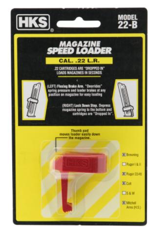 HKS 22B Speed Loader Browning Browning,Challenger,Colt,Ruger 22 LR Red Mag Loader