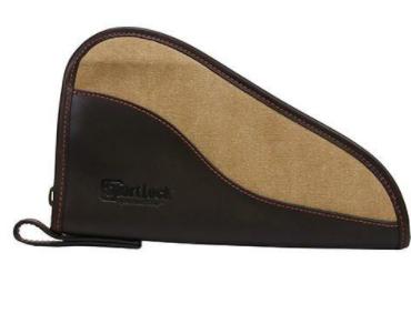 "Birchwood Casey SportLock Leather & Canvas 10"" Handgun Case Tan/Brown"