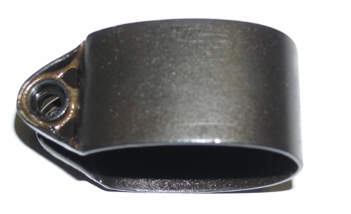 British No.4 Front Band, Stamped Wide Screw Base Type, Blued