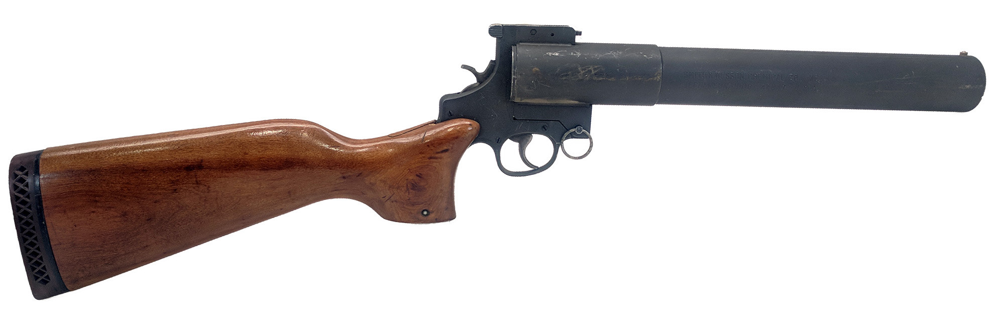 Smith & Wesson Model 276 37mm Gas / Riot Gun, *Very Good, Cracked Stock*