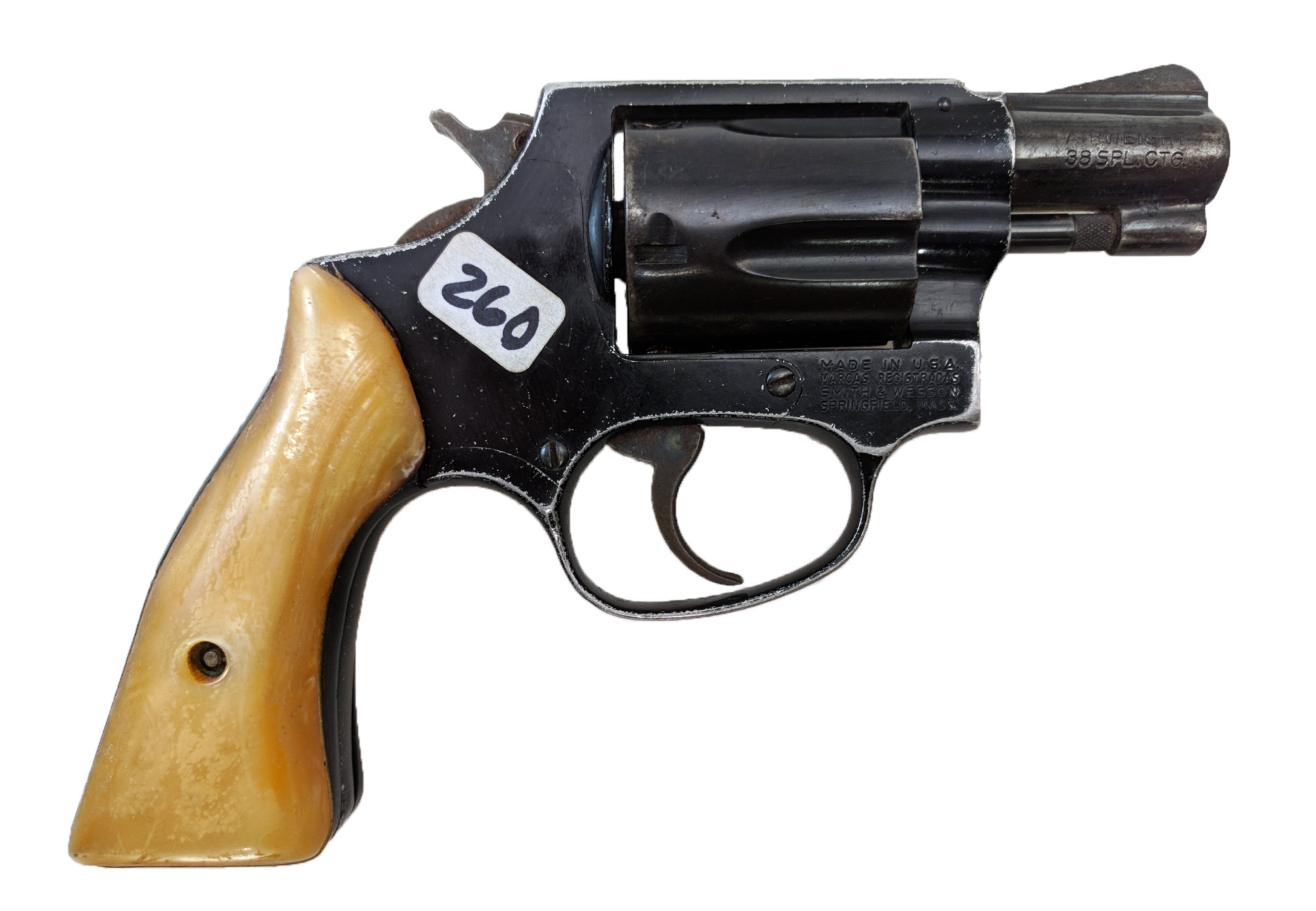 "Smith & Wesson Model 37 ""No Dash"", 2"" Blue Square Butt, 38 Special, *Fair, Incomplete*"