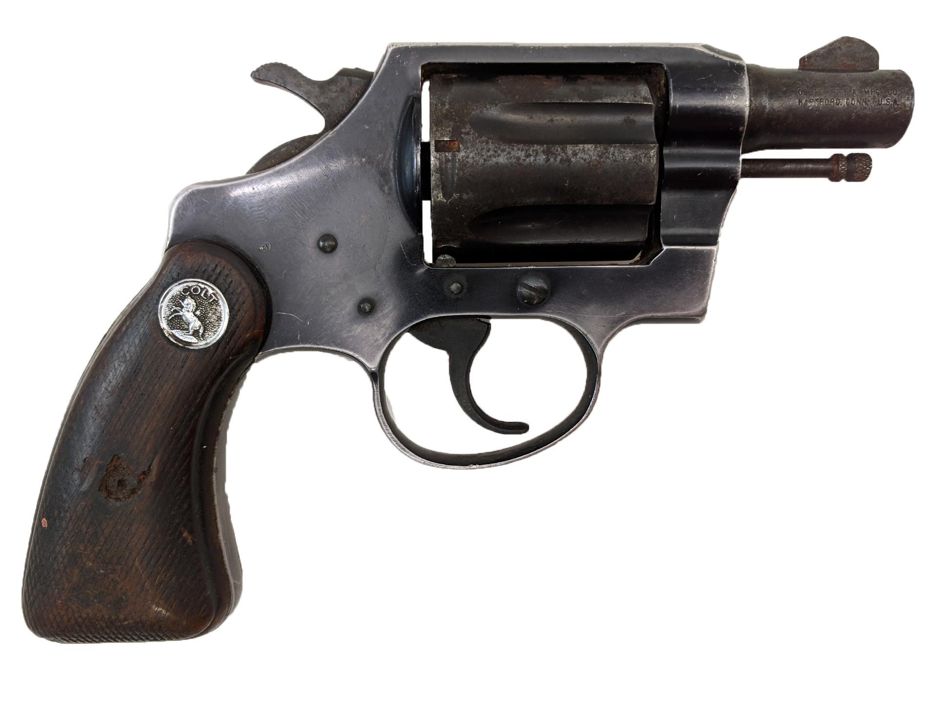 "Colt Cobra, 1st Model, 2"" Blue, 38 Special, *Fair, Incomplete*"