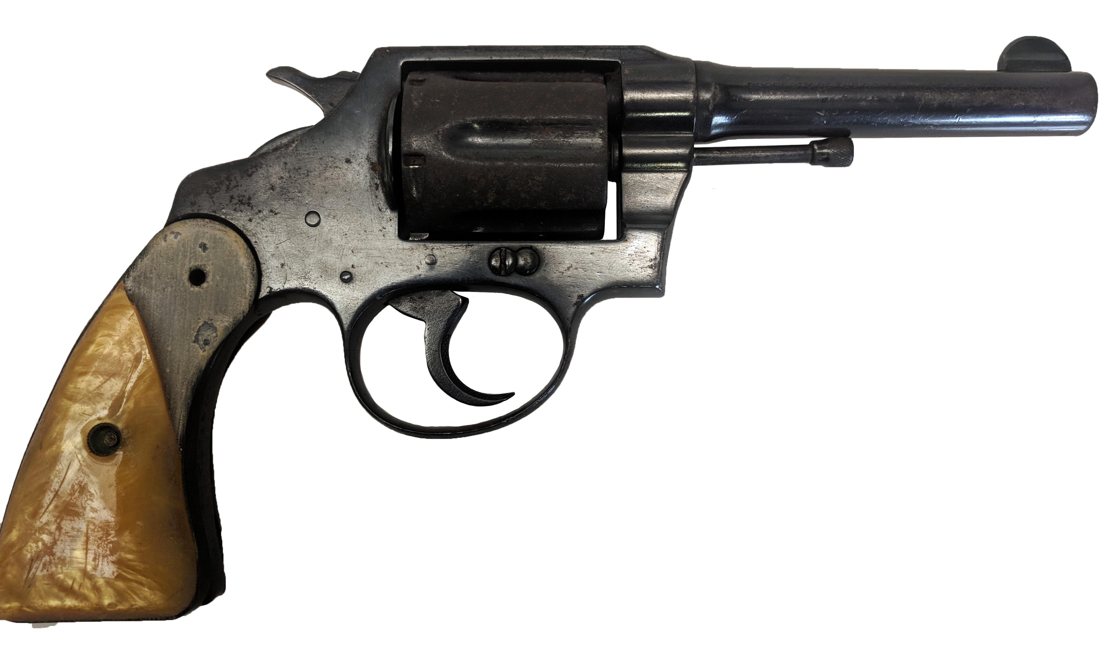 "Colt Police Positive, .38 Special, 4"" Barrel, Fixed Sights, Blued, *Poor, Incomplete*"