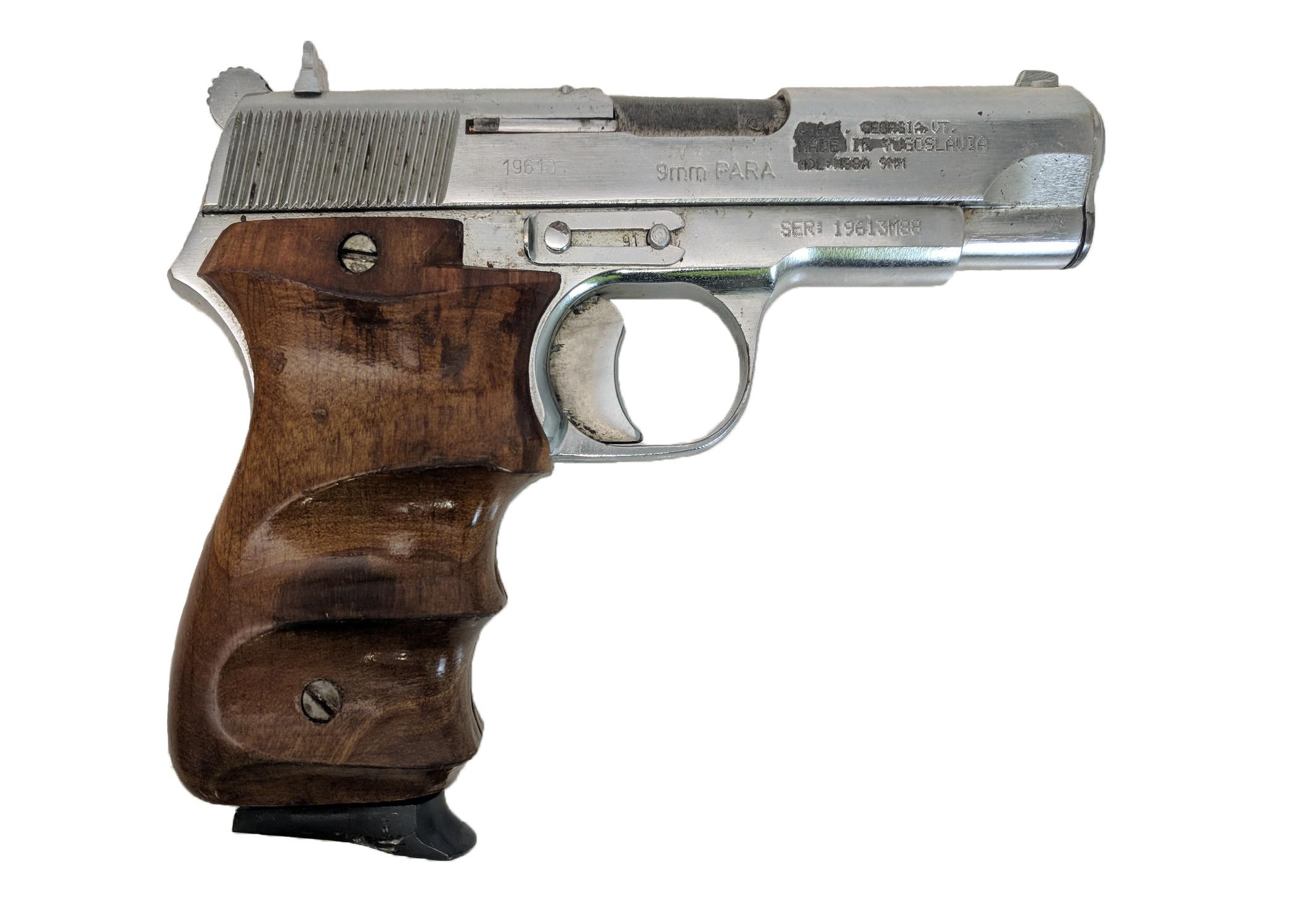 Zastava M88A, 9mm, Chrome, *Very Good, Incomplete*