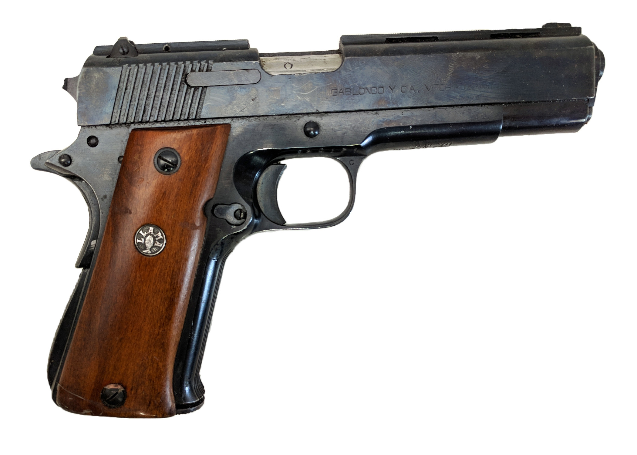 Llama XI-A, 9mm, *Very Good, Incomplete*