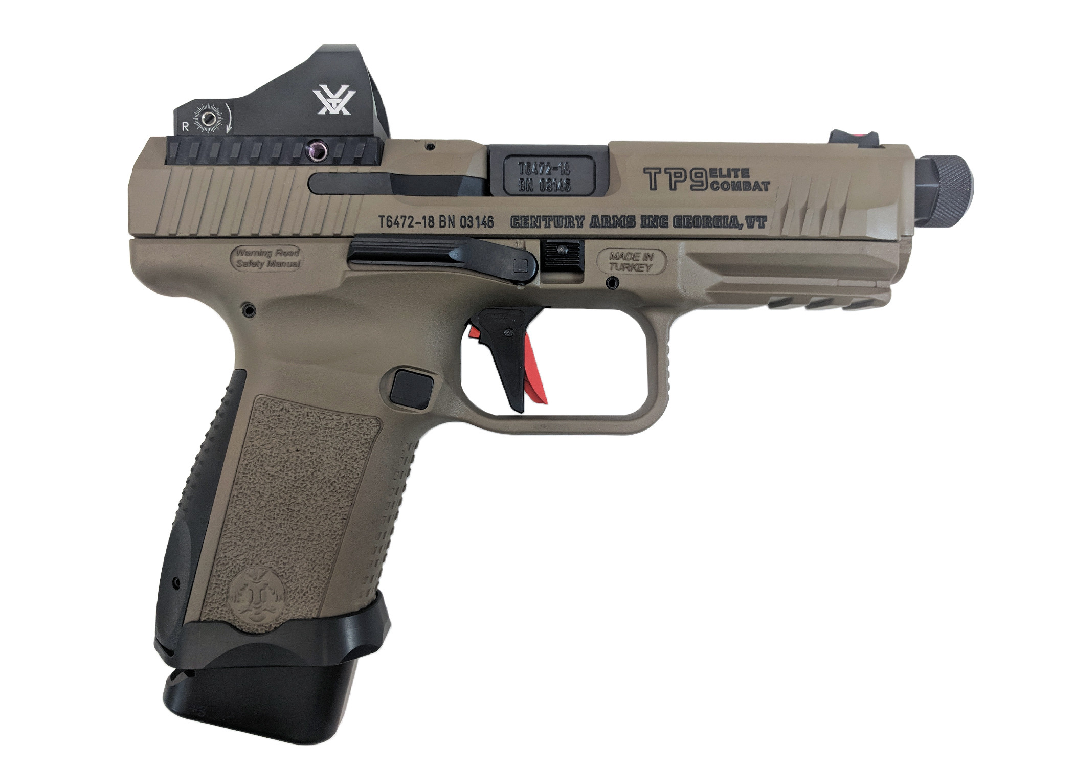 TP9 Elite Combat FDE with Vortex Viper Red Dot