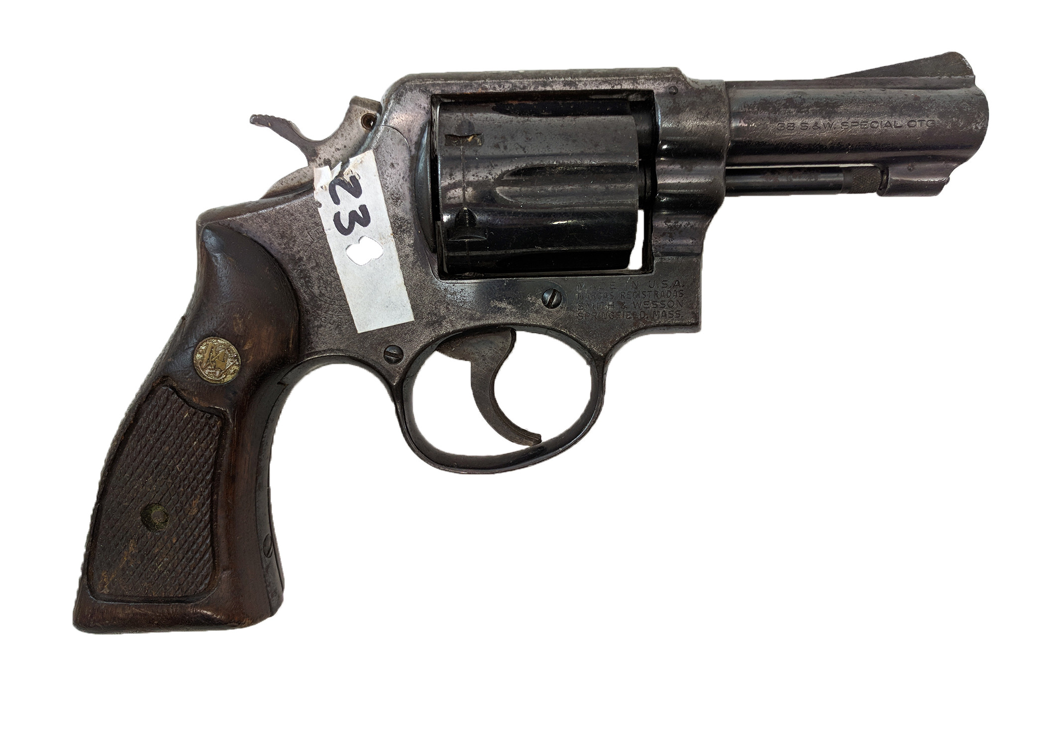 "Smith & Wesson Model 10-5, 3"" HB Square Butt, 38 Special, *Fair*"