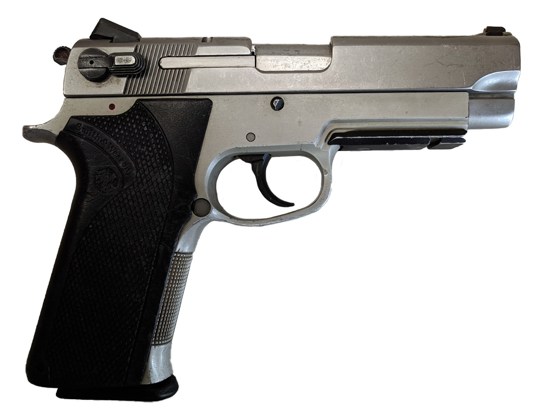 """Smith & Wesson 4563TSW, .45 ACP, 4.25"""" Barrel, Fixed Sights, Stainless Finish, *Good*"""