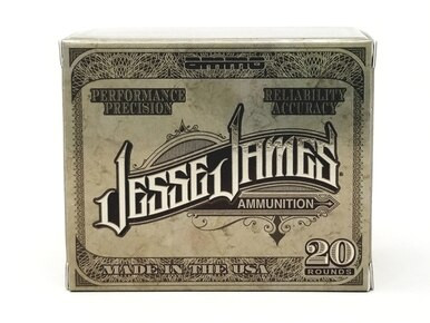 Jesse James TML Ammunition, 45 ACP, 230 Grain Jacketed Hollow Point, Box of 20