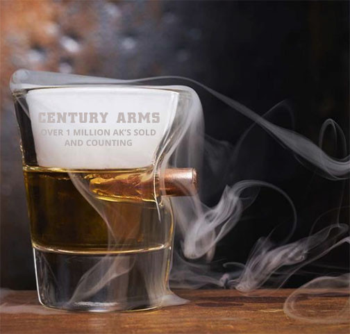 "Century Arms ""Bulletproof"" Shot Glass 1.5oz"