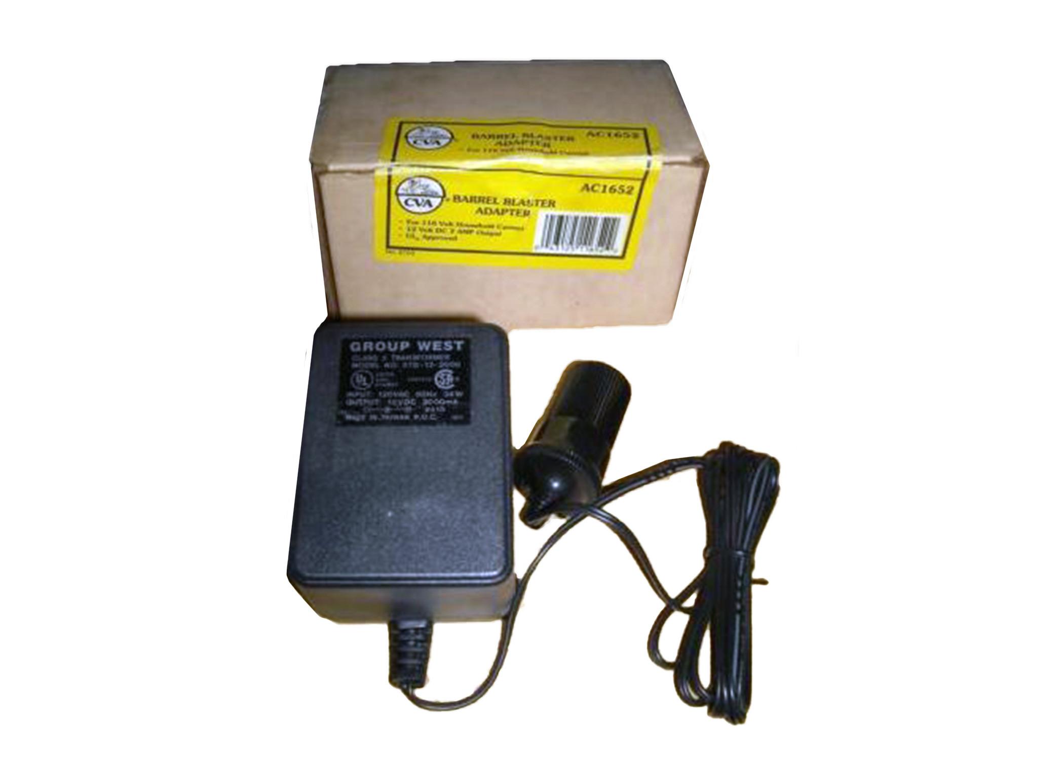 CVA Barrel Blaster Adapter 12 volt DC 110V AC