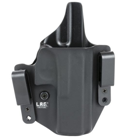 L.A.G. Tactical Defender Series OWB/IWB Holster for Glock 17/22/31, Right Hand