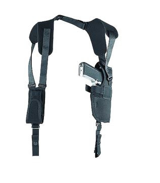 "Uncle Mike's Sidekick Vertical Shoulder Holster For 3.75-4.5"" Barrel Large Semi-Auto, Left Hand"