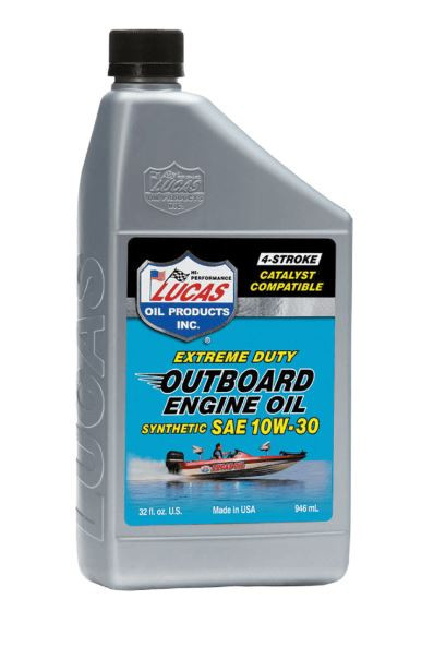 Lucas Oil Products Outboard Engine Oil, Synthetic SAE 10W-30, Case of (6) 1 QT Bottles