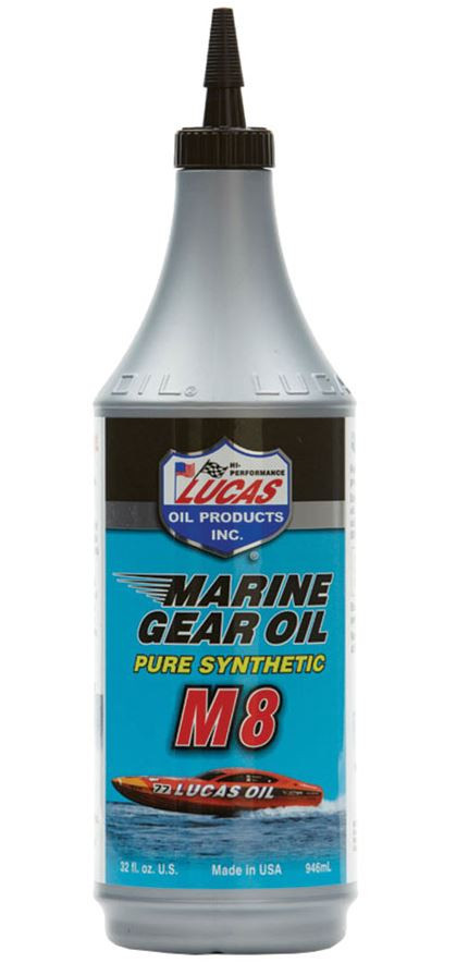 Lucas Oil Products Marine Gear Oil, Synthetic SAE 75W-90 M8, Case of (12) 1 QT Bottles