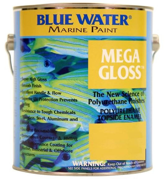 Blue Water Marine Mega Gloss White Primer, 1 Quart