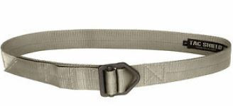 "Tac Shield Tactical Rigger Belt 1.75"" Nylon Webbing w/ Steel Buckle, OCP/MC Tan, Small 30-32"" Waist"