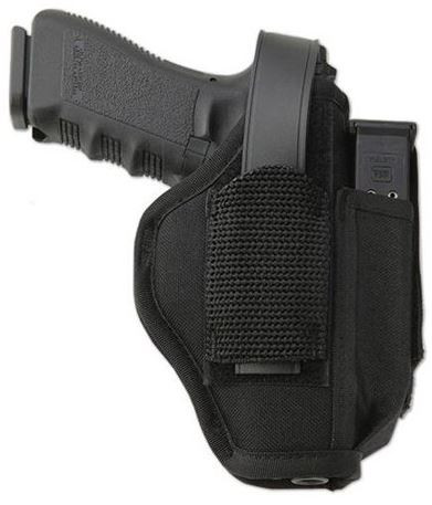"""Uncle Mikes Sidekick, Hip Holster W/Magazine Pouch For 5-1/5""""-6"""" .22 Autos, Left Hand"""