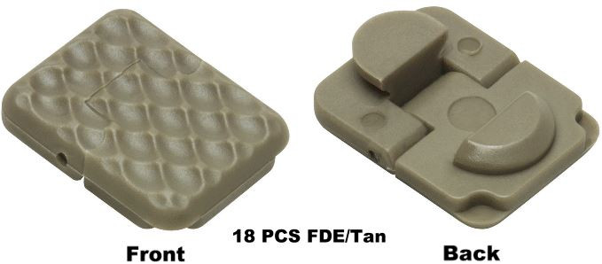 NcStar VISM Keymod Rail Covers, FDE, 18 Pack