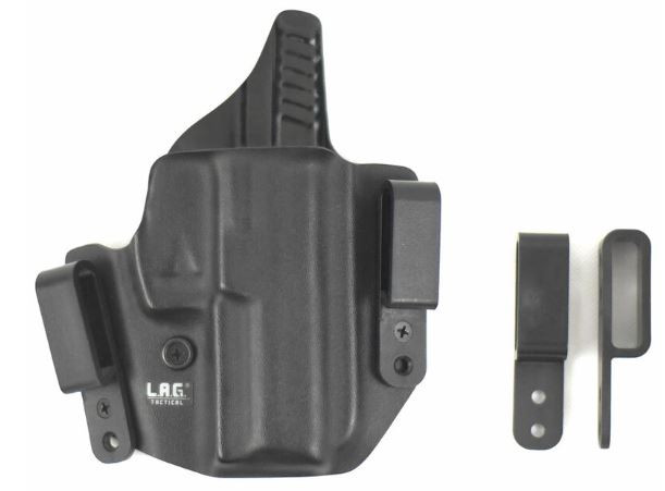 L.A.G. Tactical Defender Series IWB/OWB Holster for Glock 42, Black, Right Hand