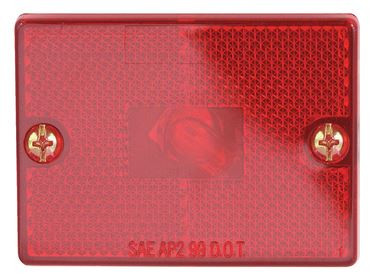 Optronics Clearance Marker Square Red Stud Mount