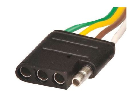 MarineWorks Trailer Wiring Connector Pigtail, 4 Pole Flat, Female, Tow Vehicle Side, 4'