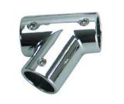 Whitecap Chrome Plated Zamac 60 degree LEFT TEE 7/8 inch