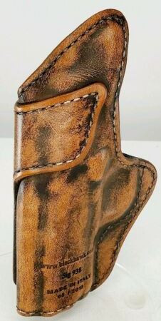 Blackhawk IWB Appendix Brown Distressed Leather Holster for SIG Sauer P938 9MM