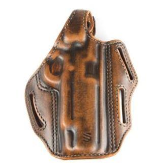 BlackHawk 3 Slot Leather Pancake Holster, Springfield XD/XDM 4in, Left Hand