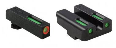 Truglo TFX Pro Tritium/Fiber-Optic Day/Night Sight For Walther CCP, Orange Outline Front/Rear Green