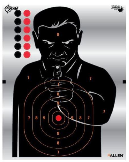 Allen Ez Aim 12in Human Silhouette Target