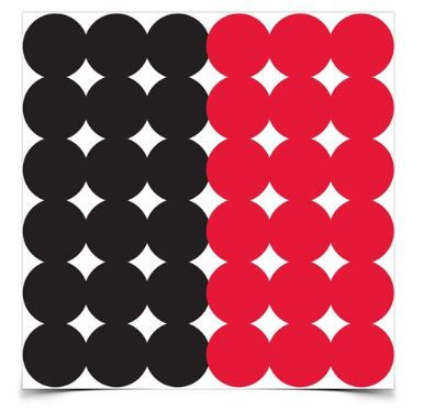 """Birchwood Casey Dirty Bird Red and Black 1"""" Target Pasters, Package of 432"""