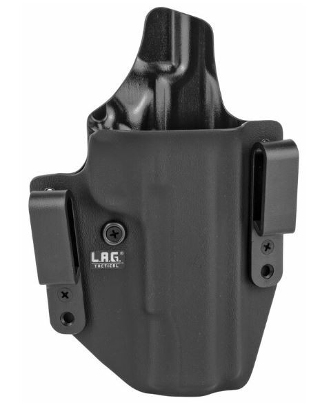 """L.A.G. Tactical Defender Series IWB/OWB Holster for 5"""" 1911 w/o Rail, Black, Right Hand"""