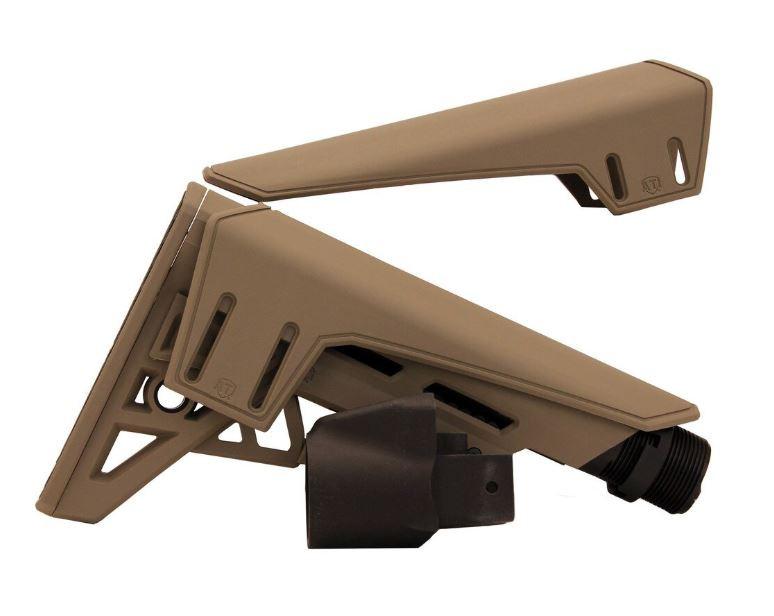 ATI AK-47 TactLite Elite Adj Stock w/ Scorpion Recoil Pad, FDE