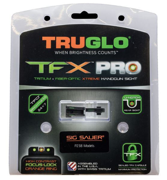 TruGlo TFX PRO Sight Set For SIG Sauer P238