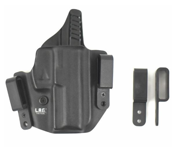 L.A.G. Tactical Defender Series IWB/OWB Holster for Ruger LC9/LC380, Black, Right Hand