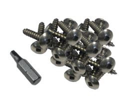 """Dock Edge Stainless Steel Profile Fasteners 100 pcs. 1"""""""