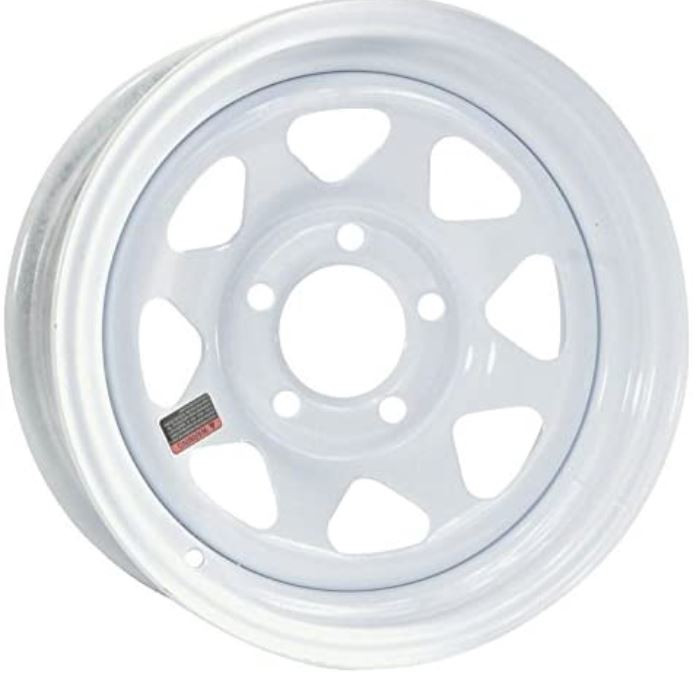 Attwood Marine WS1345SW Tow Rim 13x4 Boat Trailer Tires And Wheels