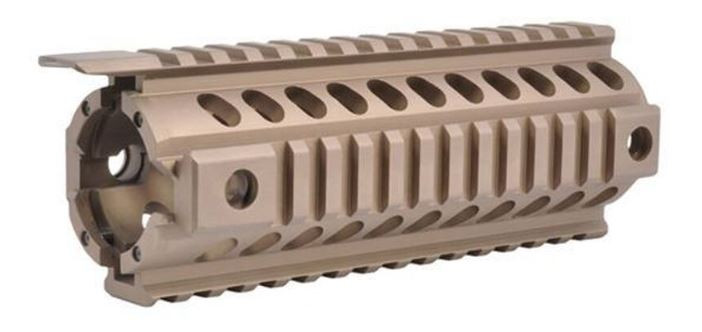 "Mission First Tactical Tekko AR-15 Quad Rail Handguard , 7"", Scorched Dark Earth"