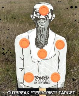 """Outbreak Skeet Holding """"TERRORIST"""" Reactive Zomobie Target - 10 PACK"""