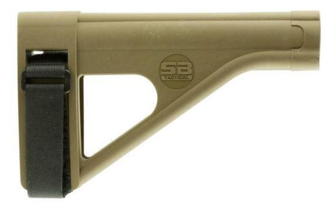 SB Tactical Pistol Stabilizing Brace Fits AR Style Pistol Buffer Tube FDE