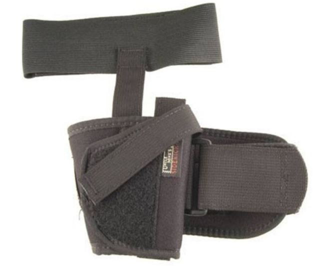 """Uncle Mikes Ankle Holster Small Double Action Revolver with Exposed Hammer 2"""" Barrel, Left Hand"""